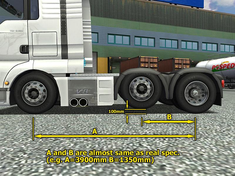 18輪皮置き場 - UK Truck Simulator - Trucks - Real Emblem 6x2
